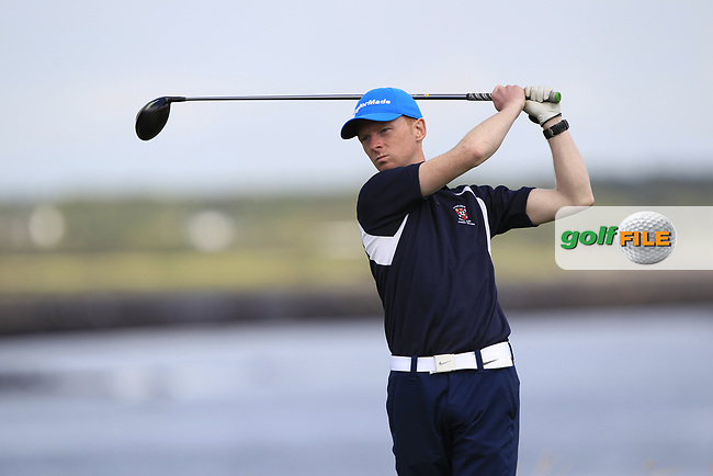 Tommy Lawless (Castlebar) during the final of the AIG Jimmy Bruen Shield Connacht Final, in Galway Bay Golf Club, Galway, Ireland. 12/08/2017<br /> Picture: Fran Caffrey / Golffile