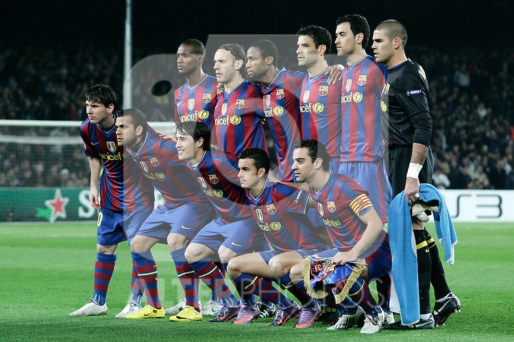 FC Barcelona's team photo during UEFA Champions League match. April 6, 2010. (ALTERPHOTOS/Acero)
