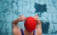 18 JUL 2010 - HATHERSAGE, GBR - Laura Buxton waits for the start of her wave at the Hathersage Hilly Triathlon .(PHOTO (C) NIGEL FARROW)