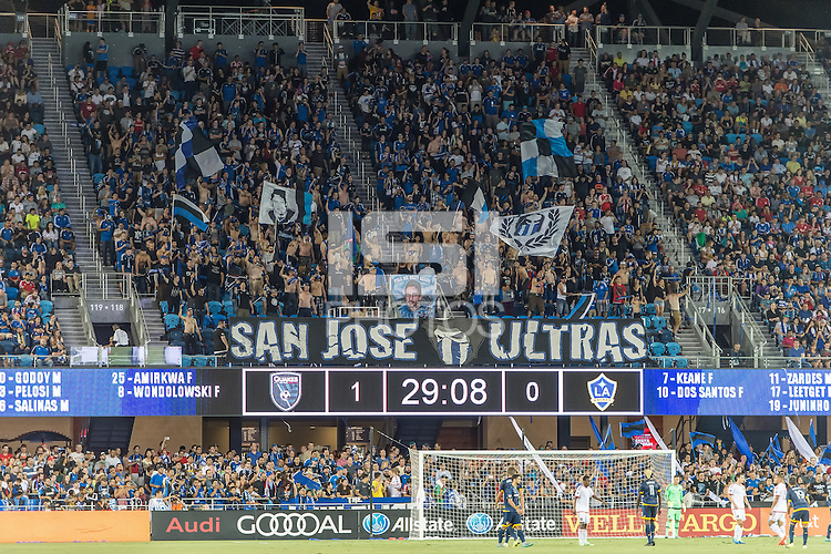 SAN JOSE, CA - August 28, 2015: The San Jose Earthquakes vs LA Galaxy match at Avaya Stadium in San Jose, CA. Final score SJ Earthquakes 1, LA Galaxy 0.