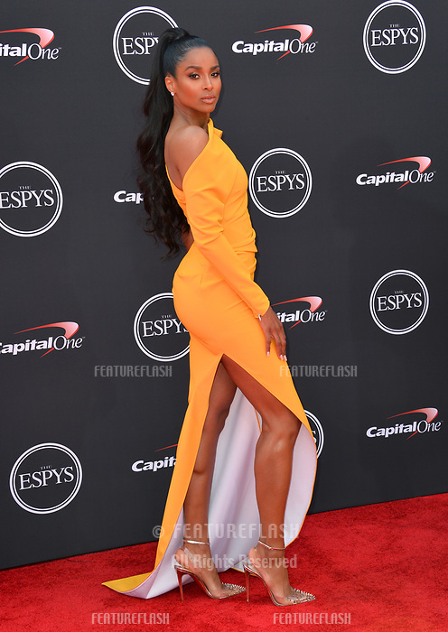 Ciara at the 2018 ESPY Awards at the Microsoft Theatre LA Live, Los Angeles, USA 18 July 2018<br /> Picture: Paul Smith/Featureflash/SilverHub 0208 004 5359 sales@silverhubmedia.com