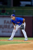 Midland RockHounds shortstop Richie Martin (12) during a game against the Arkansas Travelers on May 25, 2017 at Dickey-Stephens Park in Little Rock, Arkansas.  Midland defeated Arkansas 8-1.  (Mike Janes/Four Seam Images)
