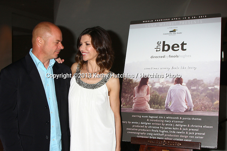"""LOS ANGELES - APR 4:  Russell Young, Finola Hughes attends the gala fundraiser for the romantic comedy, """"The Bet"""" at the Bacara Resort on April 4, 2013 in Santa Barbara, CA"""