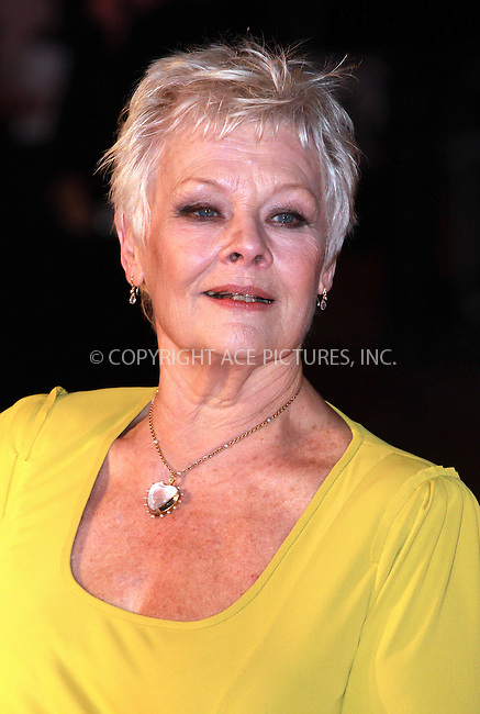 WWW.ACEPIXS.COM . . . . .  ..... . . . . US SALES ONLY . . . . .....December 3 2009, London....Actress Judy Dench arriving at the World Premiere of 'Nine' at Odeon Leicester Square on December 3, 2009 in London, England.....Please byline: FAMOUS-ACE PICTURES... . . . .  ....Ace Pictures, Inc:  ..tel: (212) 243 8787 or (646) 769 0430..e-mail: info@acepixs.com..web: http://www.acepixs.com