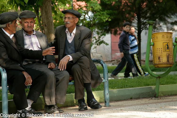 Old men in a park, Adiyaman, southeastern Turkey