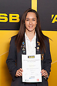 Girls Squash winner Taylor Flavell from Epsom Girls Grammar School. ASB College Sport Young Sportsperson of the Year Awards held at Eden Park, Auckland, on November 24th 2011.