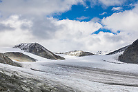 Landscape of the Gulkana Glacier in the Alaska Range mountains, Interior, Alaska.