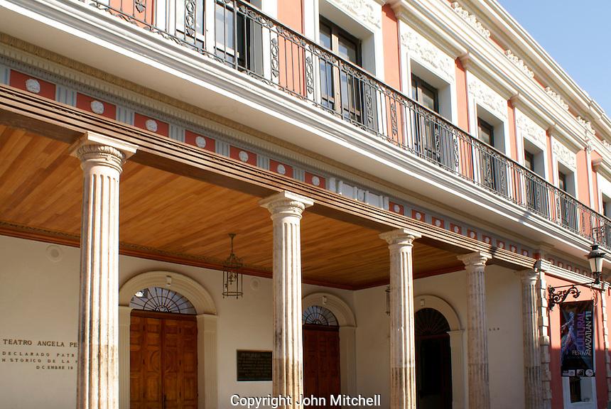 The Neoclassical style Teatro Angela Peralta theater in Old Mazatlan or Mazatlan Viejo, Sinaloa, Mexico