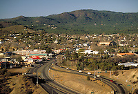 View of Prescott, AZ and US 89 SR 69 interchange. Prescott Arizona USA.