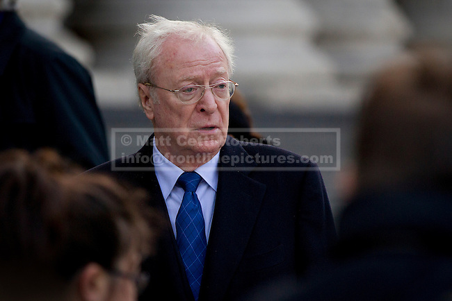 12/10/2012. LONDON, UK. Actor Sir Michael Caine is seen arriving at the memorial service for hairdresser Vidal Sassoon at St Paul's Cathedral in London today (12/10/12) . Photo credit: Matt Cetti-Roberts