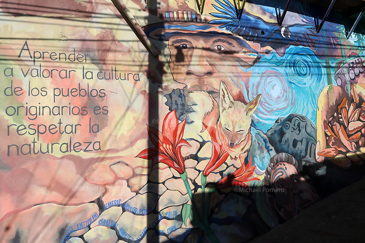 """02.2018 Valparaiso """"Apprendre a valoriser la culture des peuples indigènes c'est respecter la nature."""""""