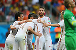 Spain team group, <br /> JUNE 13, 2014 - Football /Soccer : <br /> 2014 FIFA World Cup Brazil <br /> Group Match -Group B- <br /> between Spain 1-5 Netherlands <br /> at Arena Fonte Nova, Salvador, Brazil. <br /> (Photo by YUTAKA/AFLO SPORT) [1040]