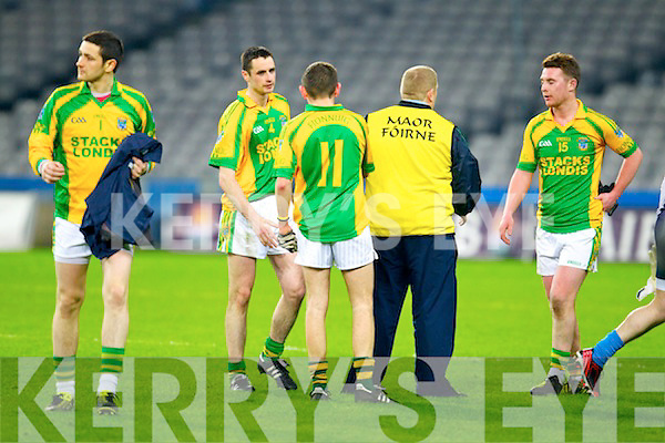 Finuge dejected after being defeated by Cookstown Fr Rocks Tyrone in the All Ireland Intermediate Final at Croke Park on Saturday.