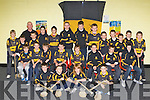 Crokes hurlers who received their medals at the Dr Crokes juvenile awards ceremony in their clubhouse on Friday night front row l-r: Lorcan O'Connor, Michael Ahern, Frank McGuire, Jack Griffin. Middle row: Ryan Casey, James McAulliffe, Sean O'Neill, Mark Harnett, Mark O'Shea, Cieran Kennedy, David Kenny, Dylan Darmody. Back row: Cian O'Hare-Wyatt, Michael Horgan, John Lenihan Coach, John Joe Buckley, Conor Murphy, Neil O'Doherty, Aida?n de Brun, James Flavine, Billy Courtney, Toma?s Fleming, Cian Fahy, John Harrington, John Griffin Kerry Hurler, Michael Lenihan, Jack Galvin