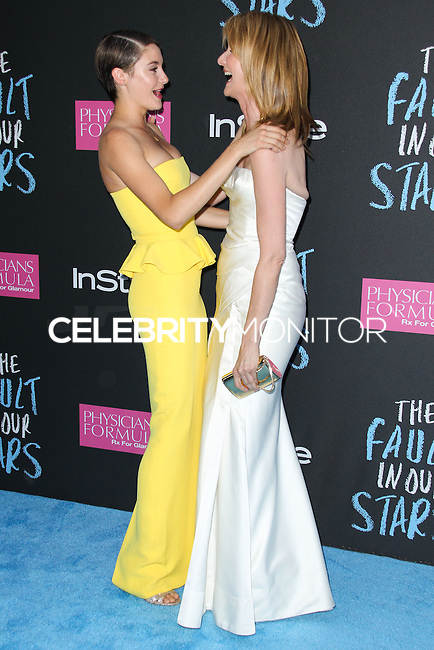 NEW YORK CITY, NY, USA - JUNE 02: Shailene Woodley, Laura Dern at the New York Premiere Of 'The Fault In Our Stars' held at Ziegfeld Theatre on June 2, 2014 in New York City, New York, United States. (Photo by Jeffery Duran/Celebrity Monitor)