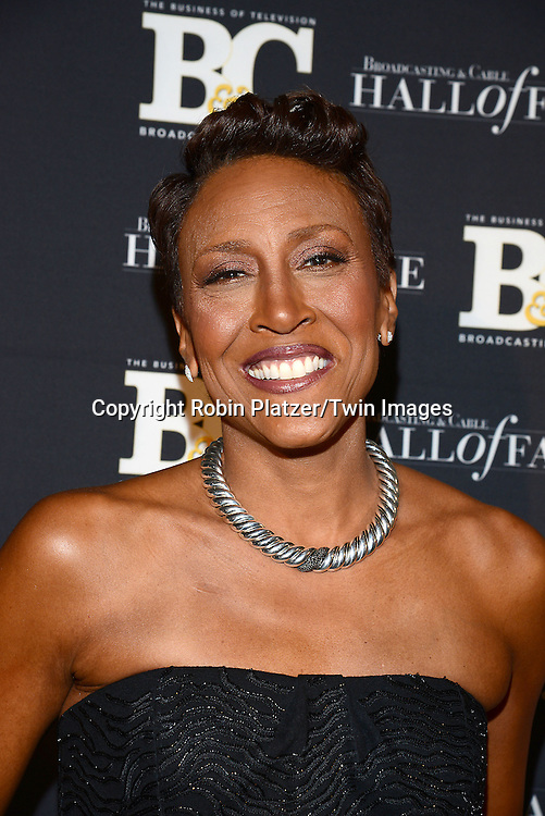 honoree Robin Roberts  attends the 24th Annual Broadcasting &amp; Cable Hall of Fame Awards Dinner on October 20, 2014 at The Waldorf Astoria Hotel in New York City.<br /> <br /> photo by Robin Platzer/Twin Images<br />  <br /> phone number 212-935-0770
