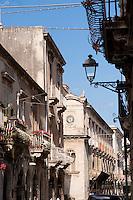 Street scenes in the historic centre of Ortigia, Siracusa, Sicily