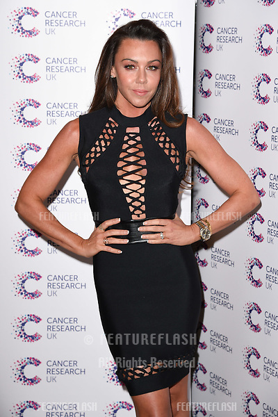 Liberty X (Michelle Heaton) arriving at James Ingham&rsquo;s Jog On to Cancer, in aid of Cancer Research UK at The Roof Gardens in Kensington, London.  <br /> 12 April  2017<br /> Picture: Steve Vas/Featureflash/SilverHub 0208 004 5359 sales@silverhubmedia.com