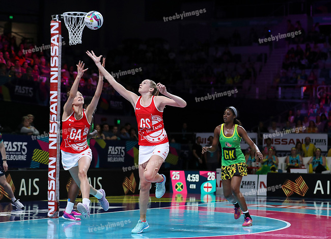 29/10/17 Fast5 2017<br /> Fast 5 Netball World Series<br /> Hisense Arena Melbourne<br /> Grand Final Jamaica v England<br /> Jo Harten<br /> <br /> <br /> <br /> <br /> <br /> Photo: Grant Treeby