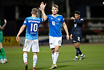 Dundee v St Johnstone&hellip;29.12.18&hellip;   Dens Park    SPFL<br />Jason Kerr and David Wotherspoon celebrate at full time<br />Picture by Graeme Hart. <br />Copyright Perthshire Picture Agency<br />Tel: 01738 623350  Mobile: 07990 594431