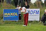 Final Day of the 100th Irish PGA championship at Seapoint Golf Club, Co Louth..Damien McGrane teeing off on the 9th.Picture Fran Caffrey/www.golffile.ie.