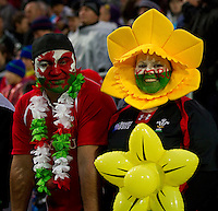 Rugby World Cup Hamilton Wales v Fiji  Pool D 02/10/2011. Welsh FAns (Wales)   .Photo Mike Frey Fotosports International/AMN
