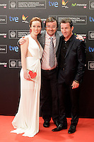 "Actor Antonio de la Torre (L), Olimpia Melinte and director Manuel Martin Cuenca posse in the photocall of the ""Canibal"" film presentation during the 61 San Sebastian Film Festival, in San Sebastian, Spain. September 23, 2013. (ALTERPHOTOS/Victor Blanco) /NortePhoto"