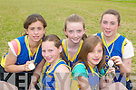 Silver medal winners at the Community Games County finals in An Riocht Castleisland last Sunday were L-r Leen Qasim, Rachel OSullivan, Sarah Taylor, Laura Herlihy and Honor Galvin all Spa/Muckross.