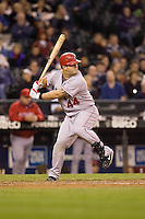 September 24, 2008: Los Angeles Angels of Anaheim catcher Mike Napoli at-bat during a game against the Seattle Mariners at Safeco Field in Seattle, Washington.