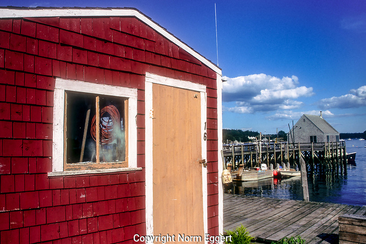 Red shack at Cundy's Harbor, Maine