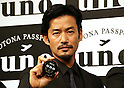 """March 9, 2016, Tokyo, Japan - Japanese actor Yutaka Takenouchi displays men's hair styling wax """"Uno"""" in Tokyo on Wednesday, March 9, 2016. Japanese cosmetics giant Shiseido unveiled the new series of men's hair styling products.  (Photo by Yoshio Tsunoda/AFLO)"""