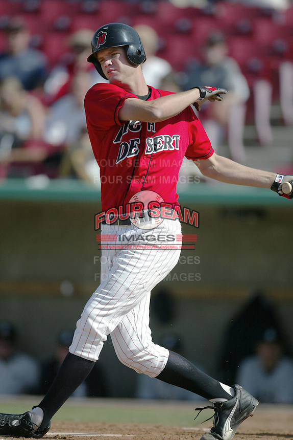 Corey Hart of the High Desert Mavericks bats during a California League 2002 season game at Mavericks Stadium, in Adelanto, California. (Larry Goren/Four Seam Images)