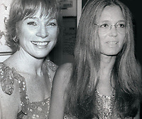 Shirley Maclaine and Gloria Steinem 1982<br /> Photo By Adam Scull/PHOTOlink.net