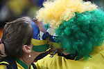 20 JUN 2010: Brazil fans kissing. The Brazil National Team played the C'ote d'Ivoire National Team at Soccer City Stadium in Johannesburg, South Africa in a 2010 FIFA World Cup Group G match.