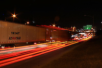 Austin Traffic moves along Interstate 35 at night