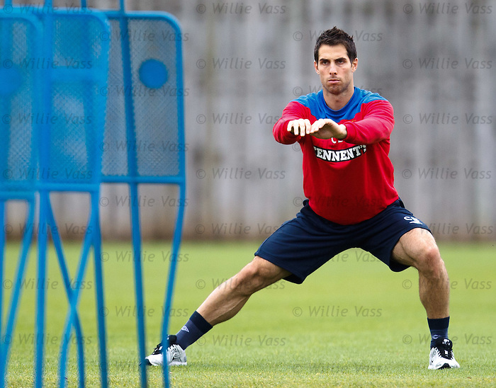 Carlos Bocanegra only doing some stretching