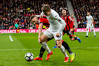 Tom Carroll of Swansea City battles for the ball during the Premier League match between AFC Bournemouth and Swansea City  at Vitality Stadium, Bournemouth, England, UK. Saturday 18 March 2017