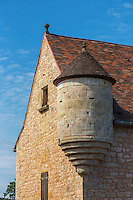 France, Lot, (46), Montcabrier: La maison dite de la cour de justice avec son échauguette du xvie.  // France, Lot, Montcabrier: house with watchtower