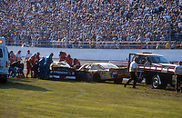Dale Earnhardt Crash Frame 9.Rescue personel work to remove Earnhardt from his car..NASCAR Winston Cup Daytona 500 18 Feb.2001 Daytona International Speedway, Daytona Beach,Florida,USA .© F. Peirce Williams .photography 2001...F.Peirce Williams Photography.P.Box 455 Eaton, OH 45320.317.358.7326  fpwp@mac.com