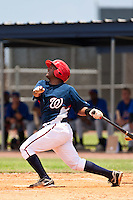 Andruth Ramirez of the Gulf Coast League Nationals during the game against the Gulf Coast League Mets June 27 2010 at the Washington Nationals complex in Viera, Florida.  Photo By Scott Jontes/Four Seam Images