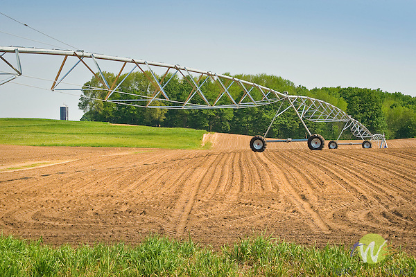 Irrigation unit. Potato field. Missaukee County, MI..