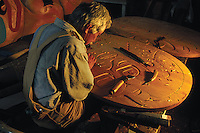 A master carver at work.