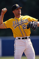 1996: Casey Blake of the Wichita State Shockers before game at Blair Field in Long Beach,CA.  Photo by Larry Goren/Four Seam Images