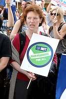 London - Teachers Demonstration Against Pension Changes, Westminster, London - March 28th 2012..Photo by Bob Kent.