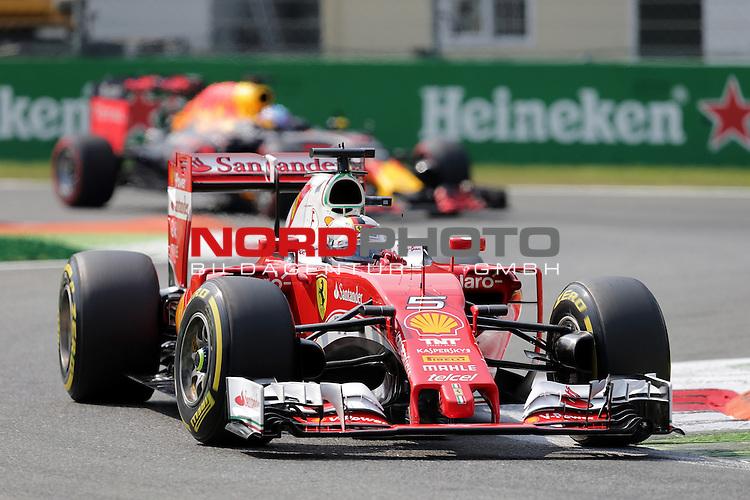 02.09.-04.09.2016, Autodromo Nationale, Monza, ITA, F1, Grosser Preis von Italien, Monza,  Race 14, im Bild <br /> Sebastian Vettel (GER#5), Scuderia Ferrari<br /> <br /> <br /> Foto &copy; nordphoto / Bratic