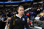 WINSTON-SALEM, NC - JANUARY 23: Duke University Athletics photographer Reagan Lunn. The Wake Forest University Demon Deacons hosted the Duke University Blue Devils on January 23, 2018 at Lawrence Joel Veterans Memorial Coliseum in Winston-Salem, NC in a Division I men's college basketball game. Duke won the game 84-70.