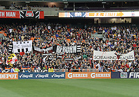 Fans of D.C. United during the opening match of the 2011 season against the Columbus Crew at RFK Stadium, in Washington D.C. on March 19 2011.D.C. United won 3-1.