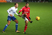 Ahmed Kashi of Charlton Athletic gets ready to control the ball during Charlton Athletic vs Portsmouth, Checkatrade Trophy Football at The Valley on 7th November 2017