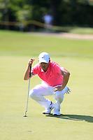 Richard T Lee (CAN) on the 3rd green during Round 3 of the Maybank Malaysian Open at the Kuala Lumpur Golf & Country Club on Saturday 7th February 2015.<br /> Picture:  Thos Caffrey / www.golffile.ie