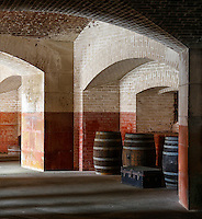 Barrels and Arches inside Ammunition Room, Fort Point, San Francisco, California, U.S.A.